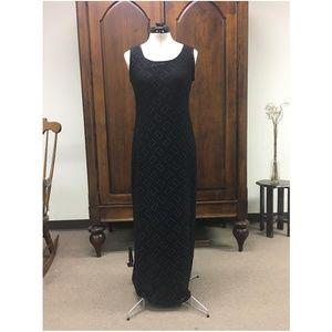 Black Long Sheath Dress